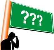Het teken van vragen en twijfel vector illustratie