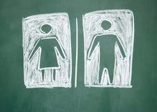 Het teken van vrouwen en mannen stock afbeelding