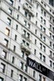 Het teken van Wall Street Royalty-vrije Stock Afbeeldingen