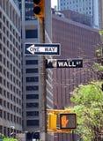 Het teken van Wall Street stock foto