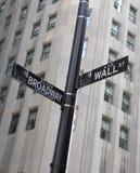 Het Teken van Wall Street Stock Fotografie