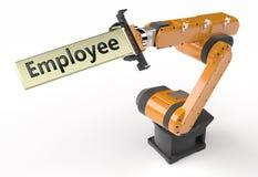 Het teken van het werknemersmetaal royalty-vrije illustratie