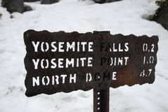 Het teken van Yosemitedalingen Royalty-vrije Stock Fotografie