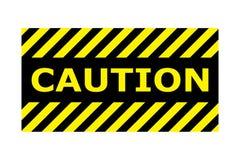 Het teken vectoreps10 van de voorzichtigheidsbanner Grens met lijn gele en zwarte kleur Het teken van de voorzichtigheid Grens en royalty-vrije illustratie