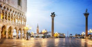 Het Teken vierkant Venetië van heilige Stock Afbeeldingen