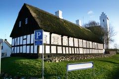 Het tekenkerk van het dorp Stock Fotografie