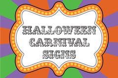 Het tekenmalplaatje van Halloween Carnaval vector illustratie