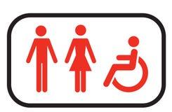 Het tekenmensen van het toilet royalty-vrije illustratie