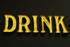Het tekenneonlichten van de drank Stock Fotografie