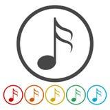 Het tekenpictogram van de muzieknota Muzikaal symbool vector illustratie
