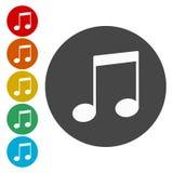 Het tekenpictogram van de muzieknota Muzikaal symbool royalty-vrije illustratie