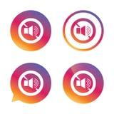 Het tekenpictogram van het sprekersvolume Geen correct symbool Royalty-vrije Stock Afbeeldingen