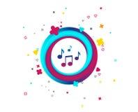 Het tekenpictogram van muzieknota's Muzikaal symbool vector illustratie