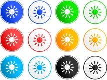 Het tekenpictogrammen van de zon Royalty-vrije Stock Afbeelding