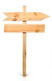 Het tekenraad van de pijl die uit hout wordt gemaakt Royalty-vrije Stock Afbeelding