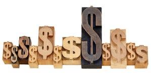 Het tekensamenvatting van Dolar Stock Foto's