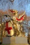 Het tekenstandbeeld van de draakgrens in Londen Royalty-vrije Stock Fotografie