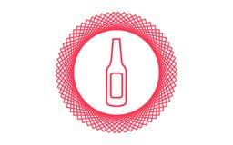 Het tekensymbool van het flessen vectorpictogram Stock Fotografie