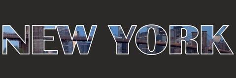 Het Tekentekst van New York Stock Foto