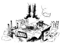 Het tekort van het contante geld royalty-vrije illustratie