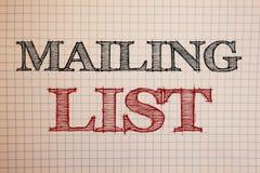 Het tekstteken die Adressenlijst Conceptuele foto'snamen en adressen van mensen tonen u gaat iets verzenden royalty-vrije stock foto