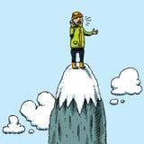 Het Telefoongesprek van de bergtop Stock Foto's