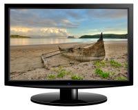 Het televisiescherm royalty-vrije stock afbeelding