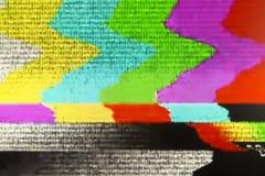 Het televisiescherm met statisch die lawaai door slechte signaalrecepti wordt veroorzaakt stock fotografie