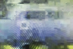 Het televisiescherm met statisch die lawaai door slechte signaalrecepti wordt veroorzaakt stock afbeeldingen