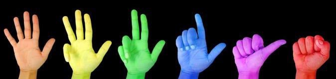 Het tellen van de vinger Stock Afbeelding