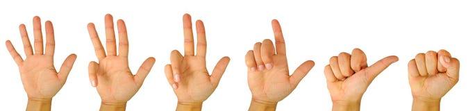 Het tellen van de vinger royalty-vrije stock foto's