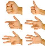 Het tellen van de vinger royalty-vrije stock fotografie