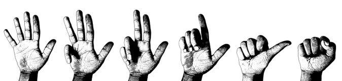 Het tellen van de vinger stock illustratie