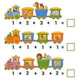 Het tellen van Onderwijsspel voor Kinderen Toevoegingsaantekenvellen Royalty-vrije Stock Foto