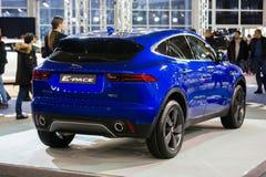 Het Tempo van Jaguar E stock afbeeldingen