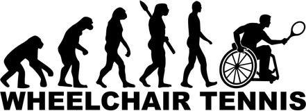 Het Tennis van de evolutierolstoel royalty-vrije illustratie