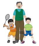 Het tennis van de familie stock illustratie