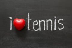 Het tennis van de liefde stock foto