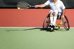 Het Tennis van de Stoel van het wiel voor Gehandicapten (Mensen) Royalty-vrije Stock Afbeeldingen