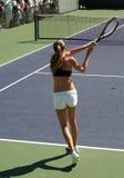 Het tennis van de vrouw Stock Foto's