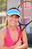 Het Tennis van de vrouw Royalty-vrije Stock Foto's