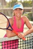Het Tennis van de vrouw Royalty-vrije Stock Afbeeldingen