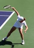 Het tennis van de vrouw stock afbeeldingen