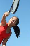 Het tennis van het meisje Royalty-vrije Stock Foto