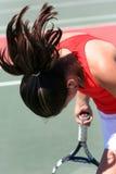 Het tennis van het meisje royalty-vrije stock afbeelding