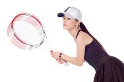 Het tennis van meisjes Stock Fotografie