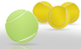 Het tennisballen van de groep stock illustratie