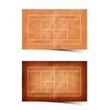 Het tennisgebied gerecycleerd document van Grunge Stock Fotografie