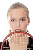 Het tennisspeler van de tiener Stock Afbeeldingen
