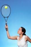 Het tennisspeler van de vrouw Royalty-vrije Stock Afbeelding